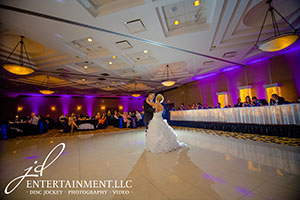 JD Entertainment - Accent Lighting - Amanda and Tommy wideshot